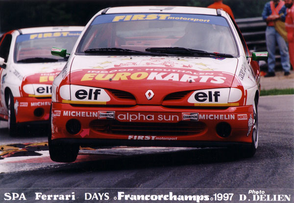 Megane Cup 1997, the busstop at Spa