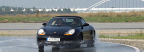 Wet tyre testing at Papenburg